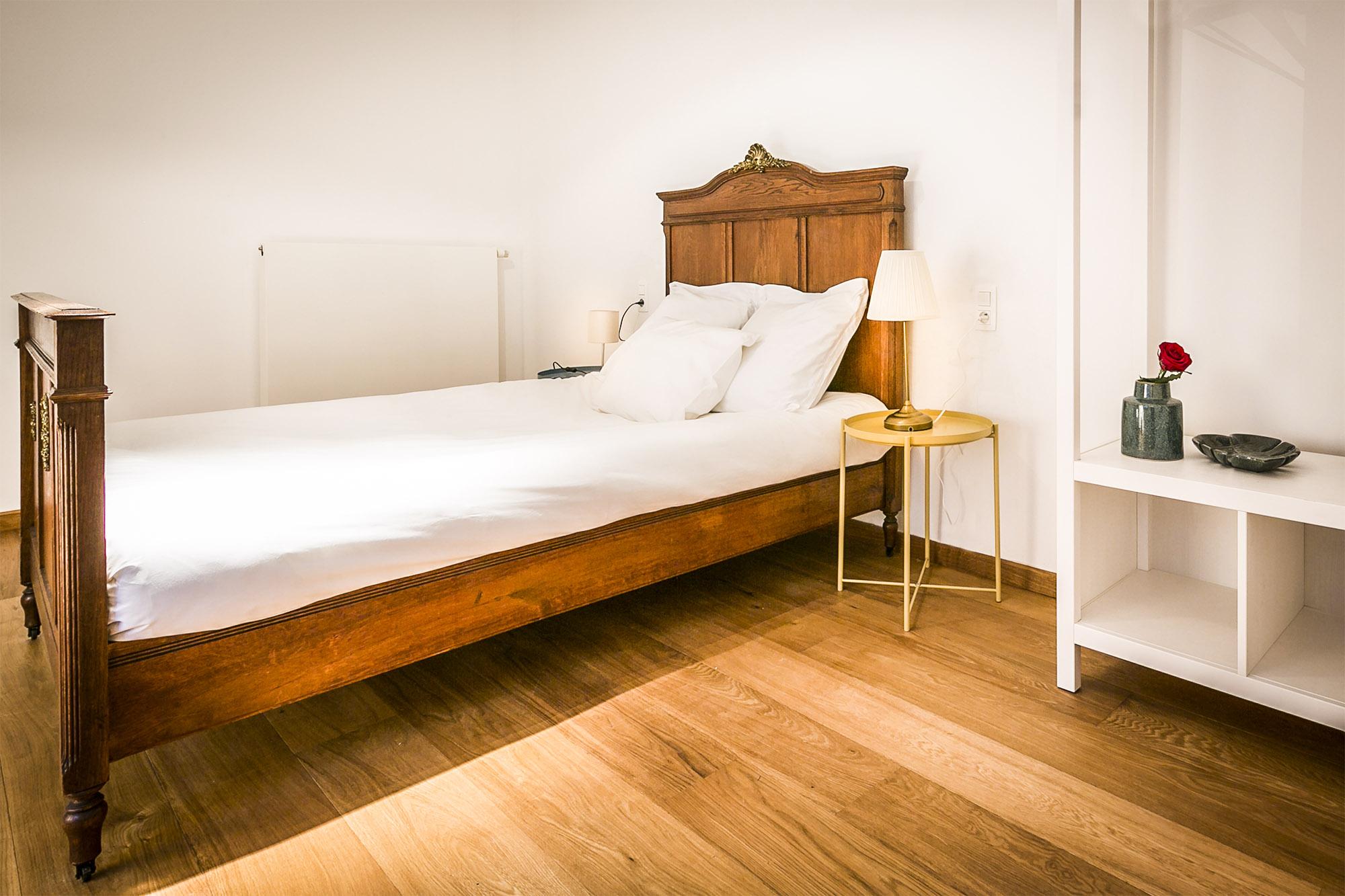 vakantiehuis te huur - slaapkamer met mooie plankenvloer